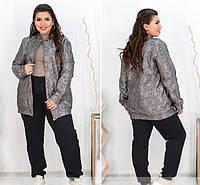 Брючный  женский костюм куртка и брюки,цвет капучино 50-52р, фото 1