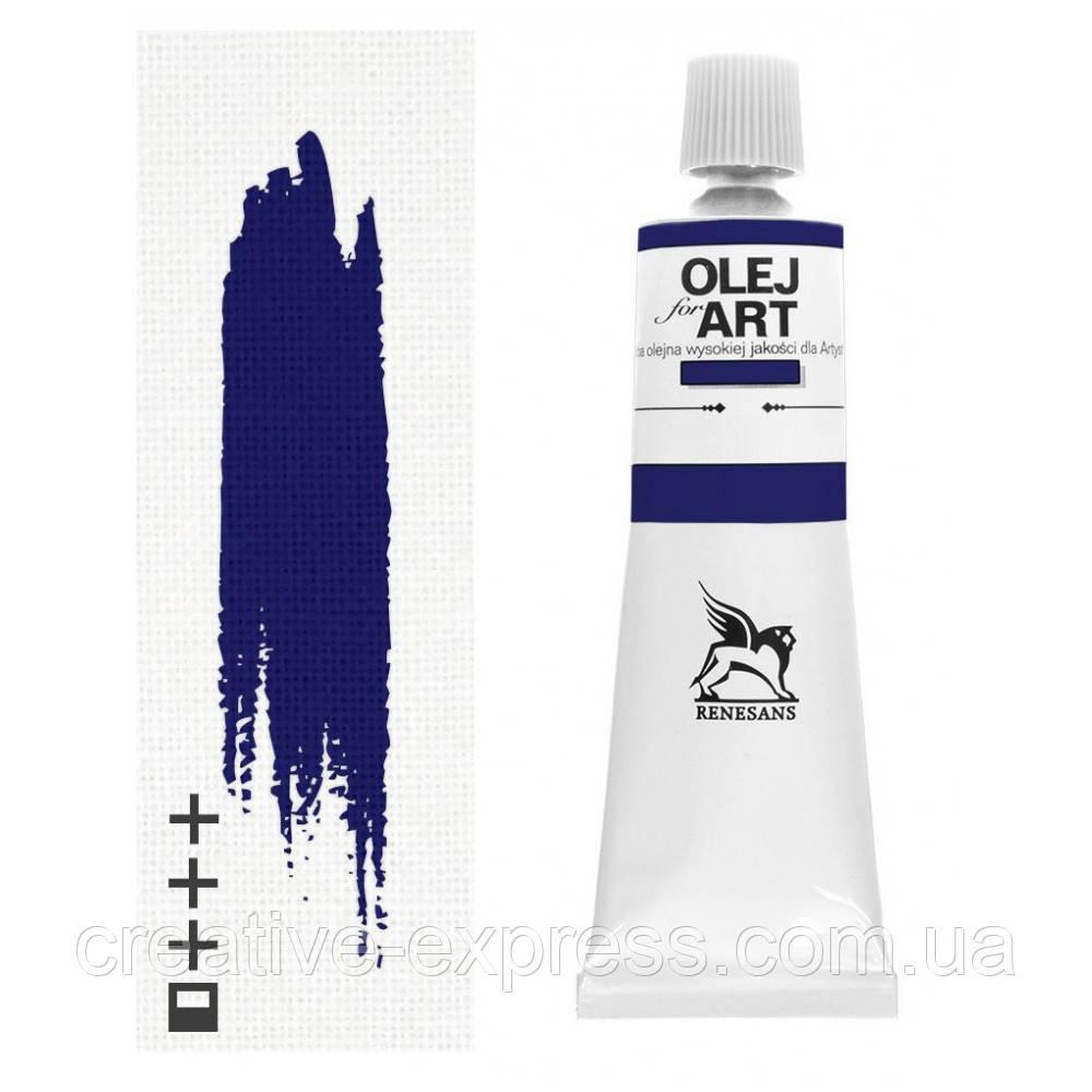 Фарба олійна, Блакитна ФЦ, 60мл, Renesans