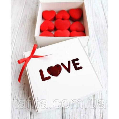 Коробка 15х15х5 love белая