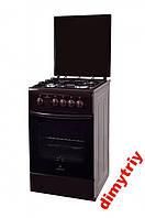 Газовая плита Greta 1470-00/16 коричневая с крышкой