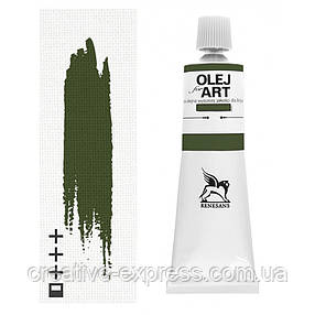 Фарба олійна, Зелена болотна, 60мл, Renesans, фото 2