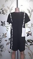 Женское платье-футболка, черное, 42-48