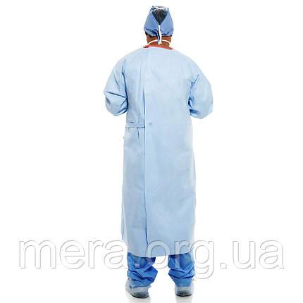 Халат хирургический размер L, стерильный, рукав с манжетой,, фото 2