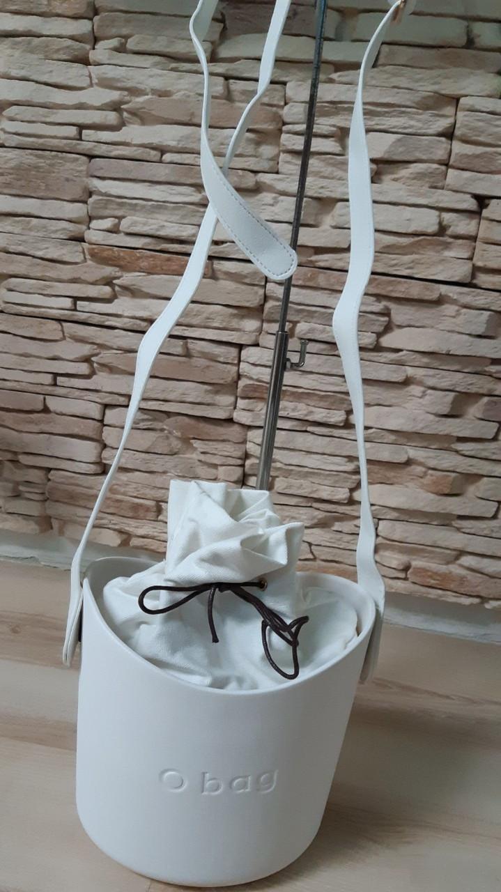 Сумка oBag basket в белом цвете