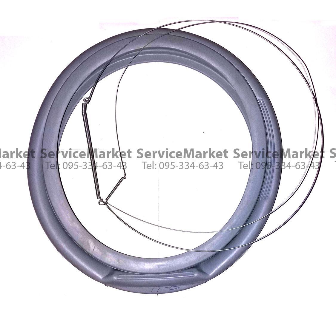 Резина (манжет) люка пральної машини Indesit, Ariston C00095328 в комплекті з хомутами, пружинами Оригінал