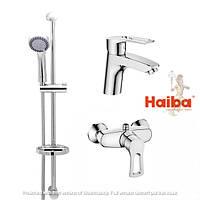 Набор смесителей с душевой стойкой душ кабина умывальник стойка HAIBA HANSBERG.SET - 2
