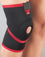 Aurafix Бандаж на колено неопрен, неразъемный, силик кольцо 101 р.XL