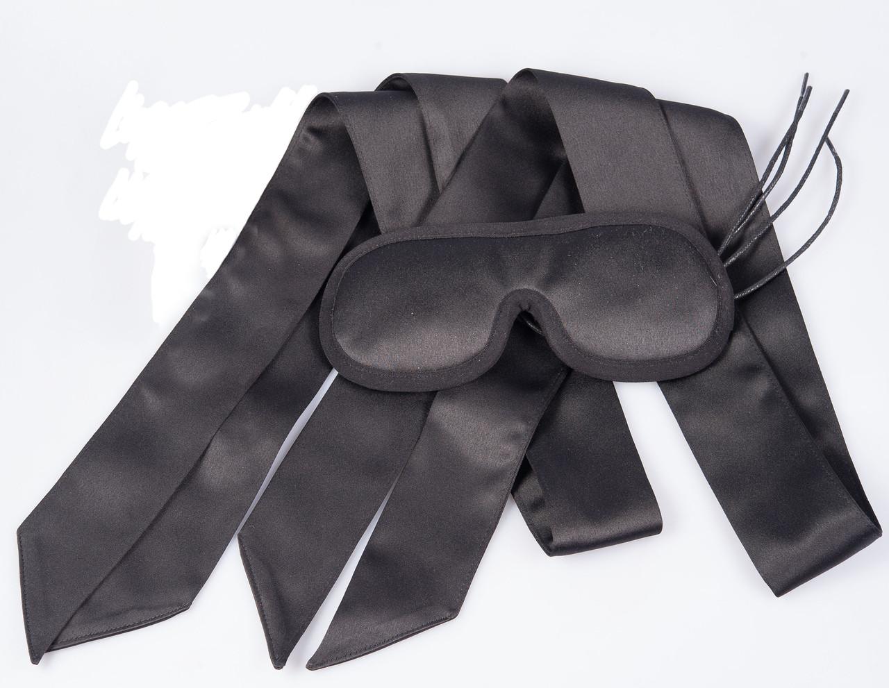 БДСМ набор, Повязка для глаз, бондажные атласная ленты.
