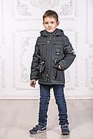 Р-р 128, Куртка парка для мальчика демисезонная недорого