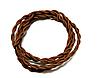 Ретро провод текстильный витой 2x0.75, коричневый