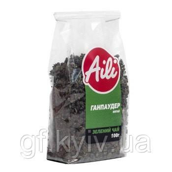 """Чай """"Ганпаудер"""" зеленый ТМ Aili 200 грамм в пачке (натуральный, рассыпчатый, крупнолистовой)"""