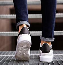 Кросівки чоловічі з масивною підошвою, білі з чорною вставкою, фото 3