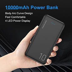 Зовнішній акумулятор FLOVEME P200 Power Bank 10000 mAh Black, фото 3