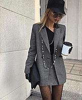 """Модный теплый женский костюм-двойка юбка+пиджак """"Chile"""""""