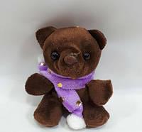 """Мягкая игрушка """"мишка  джентельмен 9см""""темно коричневый, фото 1"""