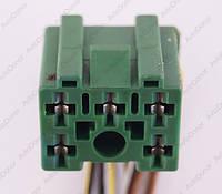Разъем автомобильный 5-pin/контактный. 24×20 mm. Б.У