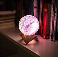 Настольний  ночник в детскую комнату Magic 3D Moon Light
