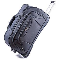 Дорожная сумка на колесах Wings 1056 Большая (L) Серая