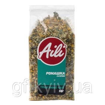 """Чай """"Ромашка с мятой"""" травяной ТМ Aili 50 грамм в пачке (натуральный, рассыпчатый)"""