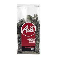 """Чай """"Мелисса Мята"""" черный ТМ Aili 100 грамм в пачке (натуральный, травяной, смесь)"""