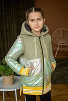 """Демисезонная  куртка-жилетка  для девочки """"Бомпер"""", весенняя детская куртка ВЕСНА 2020"""