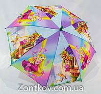 """Детский зонтик трость """"принцесса Рапунцель"""" с пластиковой спицей на 5-9 лет от фирмы """"Rainproof""""., фото 1"""