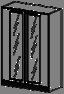 Шкаф низкий Soft  26/804 900х400х1150