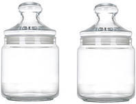 Набор банок для сыпучих продуктов Luminarc Club 2 х 0.75 л (P1425)