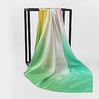 Шелковый платок 90х90см амбре 4 оттенка