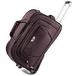 Дорожная сумка на колесах Wings 1056 Большая (L) Коричневая