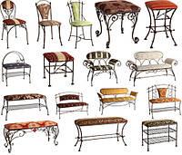 Кованые стулья и табуреты в Херсоне.
