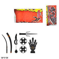 Набір ніндзя (игровой набор) самурайський RZ1483/T307-D7223 (48шт/2) на планш. 58*5*28 см