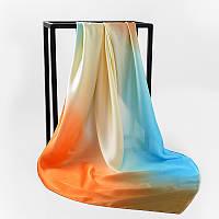 Шелковый платок 90х90см  амбре 5 оттенков
