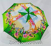 """Детский зонтик трость """"принцесса Рапунцель"""" с пластиковой спицей на 5-9 лет от фирмы """"Rainproof""""."""