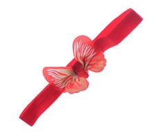 Детская повязка красная - бабочка 8*5см, окружность 34-50см