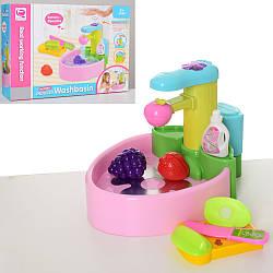 Кухня игровая, раковина, мойка-течет вода, сенсорное управление, свет, продукты, досточка, QF26246P