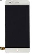 Дисплей (экран) для ZTE Z17 Nubia NX563J + тачскрин, белый, оригинал