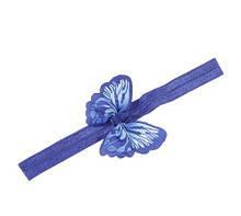 Детская повязка синего цвета - бабочка 8*5см, окружность 34-50см