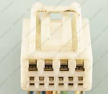 Разъем автомобильный 10-pin/контактный. 18×14 mm. Б.У