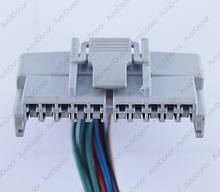 Разъем автомобильный 10-pin/контактный. 49×15 mm. Б.У
