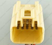 Разъем автомобильный 10-pin/контактный. 27×23 mm. Б.У. 11823