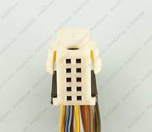 Разъем автомобильный 10-pin/контактный. 17×12 mm. 962112-3. Б.У