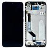 Дисплей (экран) для Xiaomi Redmi Note 7 + тачскрин, черный, с передней панелью, оригинал