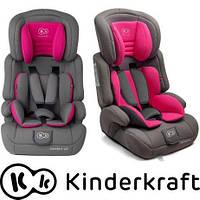 Автокресло Kinderkraft Comfort UP 9-36 кг серо-розовый