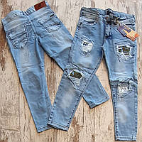 Джинсы модные детские #3168. 5-6-7-8 лет. Оптом