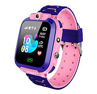 Умные детские часы с локацией, фонариком и камерой Smart Baby Watch розовые