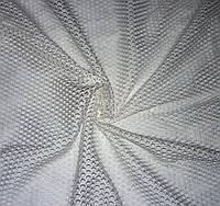 Тюль сетка сота № 378522 цвет молочный
