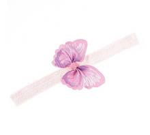 Детская повязка розовая - бабочка 8*5см, окружность 34-50см