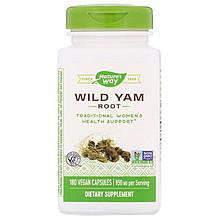 """Корень дикого ямса Nature's Way """"Wild Yam Root"""" для поддержки женского здоровья, 850 мг (180 капсул)"""