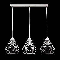 Светильник подвесной на 3 плафона в стиле лофт белый NL 538-3 W MSK Electric